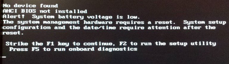 System battery voltage is low